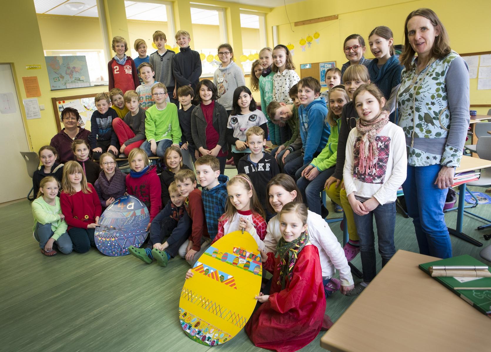 Bissendorf: Grundschüler verzieren Schledehausen
